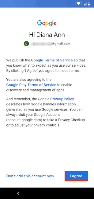 Agreeing to the Terms of Service and Privacy Policy