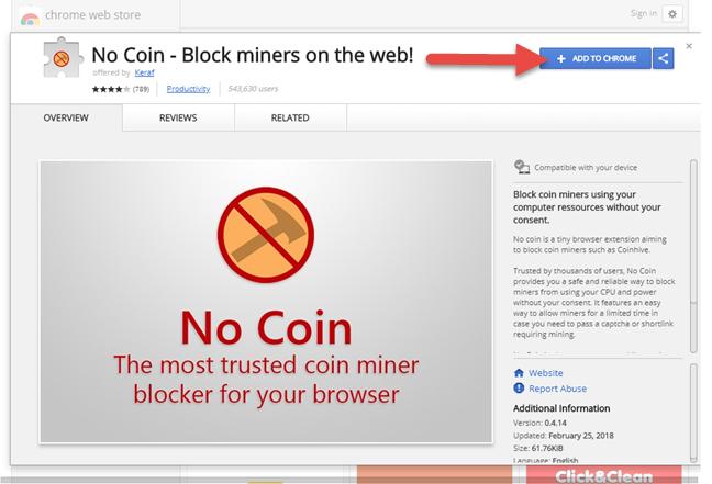 Google Chrome, No Coin