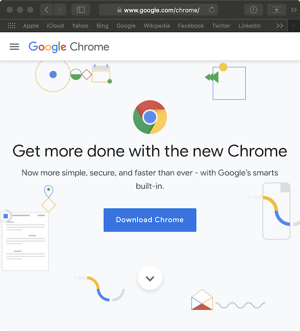Download Chrome from the official website