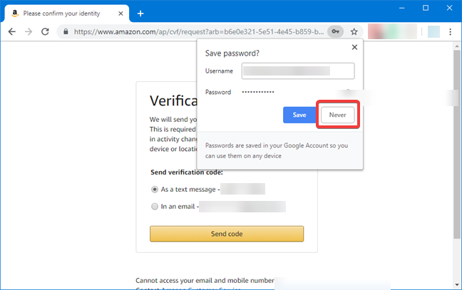 Google Chrome asking to save passwords in Windows