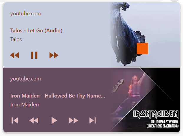 Playlists display more options in the media hub