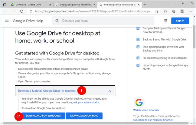 Download Google Drive for desktop
