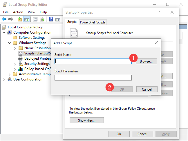 Add a Script to Startup in Local Group Policy Editor
