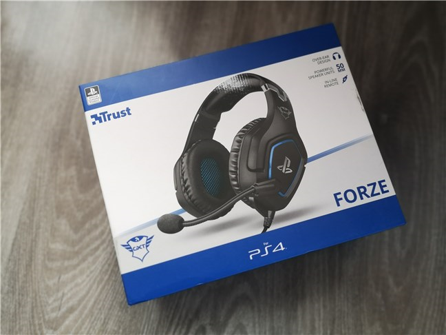 Trust GXT 488 Forze PS4: The box