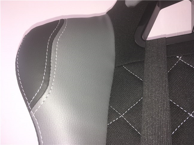 Artificial leather insertions on the Trust GXT 707 Resto V2 gaming chair