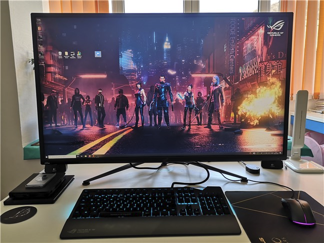 A computer monitor with HDR