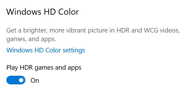 Enable Play HDR games and apps