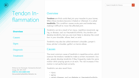Windows 8.1, Health & Fitness, app