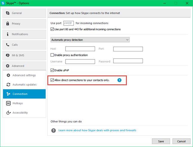 Skype, Windows, desktop, app, hide, IP address