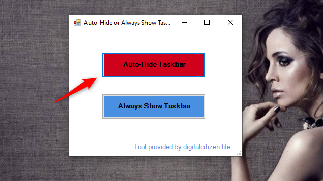 Auto-Hide Taskbar with the TaskbarHide tool