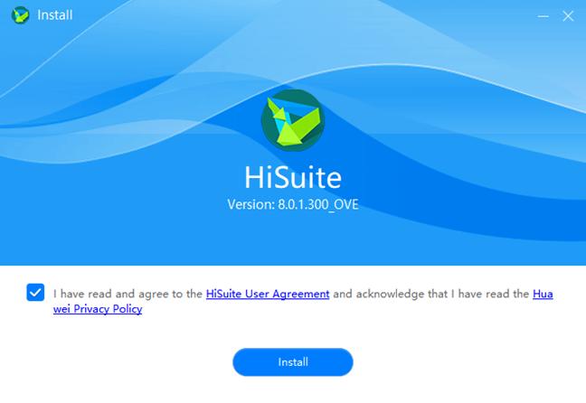 Installing HiSuite in Windows