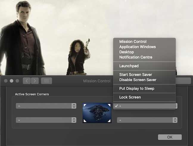 The Mac Hot Corners can be assigned several actions