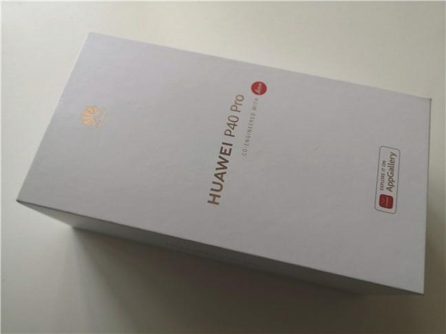 Huawei P40 Pro: The box