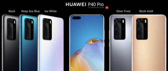 Color editions available for the Huawei P40 Pro