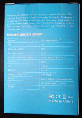 iClever, IC-BTS02, bluetooth, speaker, review
