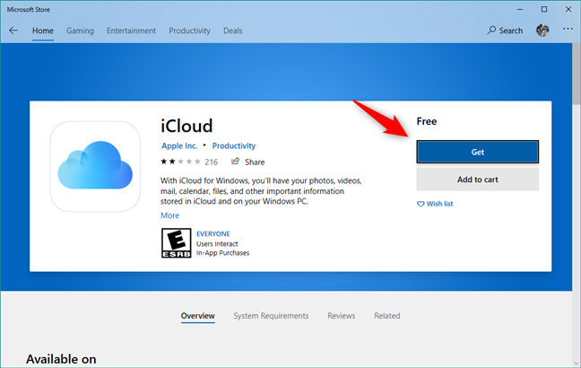 Get or Install iCloud for Windows 10