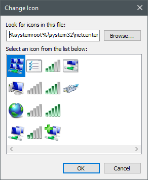 Icons stored in the netcenter.dll file