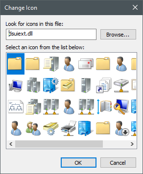 Icons stored in the dsuiext.dll file