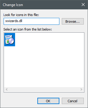 Icons stored in the xwizards.dll file