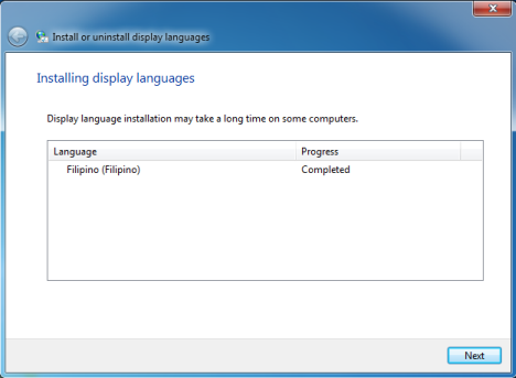 Display Language