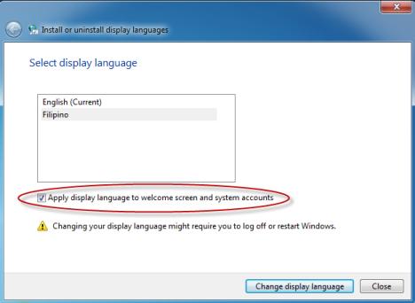 Display Language