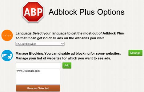 Internet Explorer, Adblock Plus, ads, lists, filters