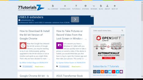 Internet Explorer, Windows 8.1, configuration, options, rendering, settings