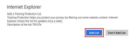 Internet Explorer, Windows 8.1, privacy, settings