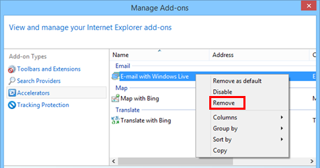 Internet Explorer, remove, enable, disable, add-on, add-ons, extensions