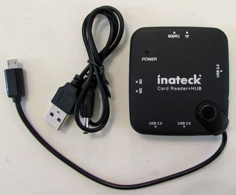 Inateck 3, Ports, USB 2.0, OTG, HUB, Card Reader, Tablets, Phones