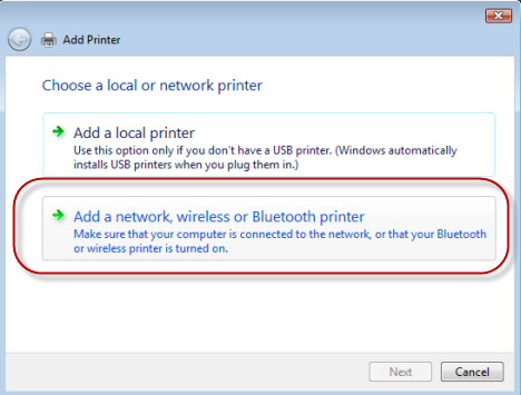 Install Network Shared Printer