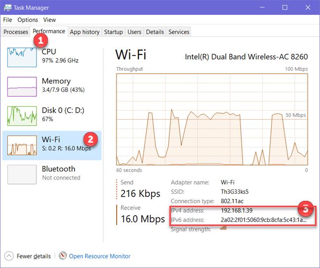 Windows, IP address, IPv4, IPv6