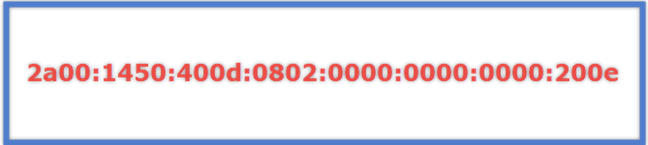 An example of an IPv6 address