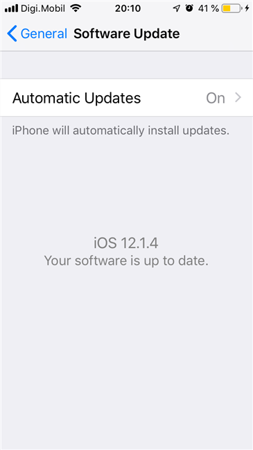 iOS automatic software updates
