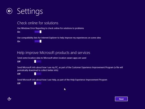 Windows 8.1, RTM, Setup, Installation, Personalization