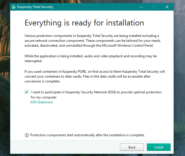 Kaspersky, Total Security, 2018, Internet Security