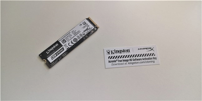 Kingston KC2500 1 TB M.2 NVMe PCIe SSD: What's inside the plastic blister