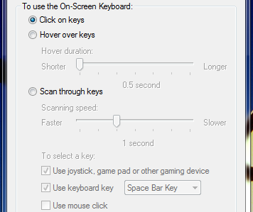 On-Screen Keyboard, Windows 7