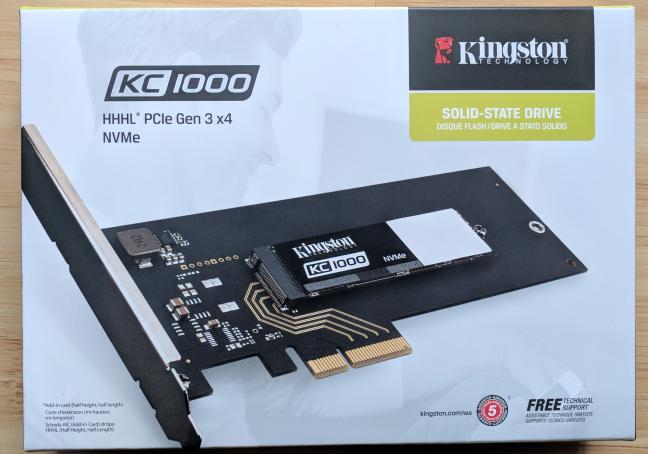 Kingston KC1000, NVMe, SSD