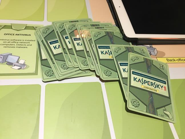 Board game with Kaspersky Interactive Protection Simulation