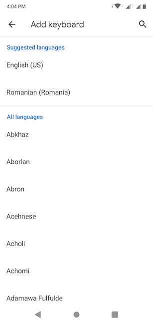 You can scroll to find your language