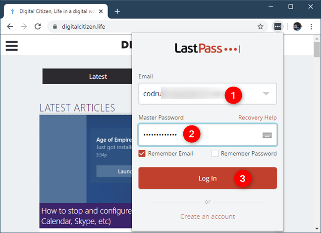 LastPass authentication