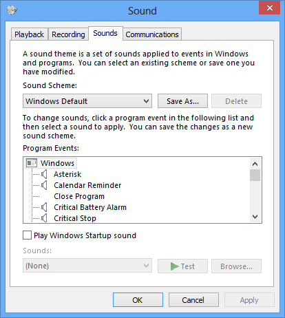 Set Windows to Play Alarm Sounds When Reaching Low or Critical Battery