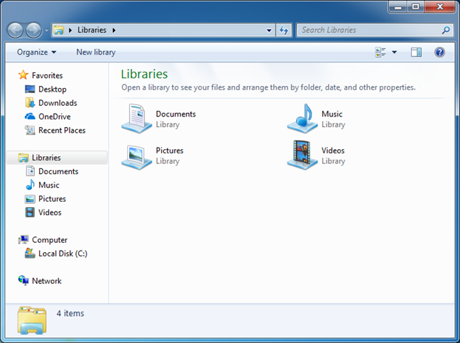 Windows, libraries