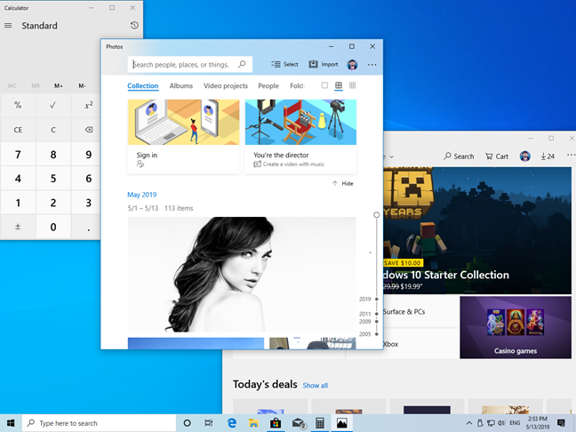 Apps using the Light Mode in Windows 10