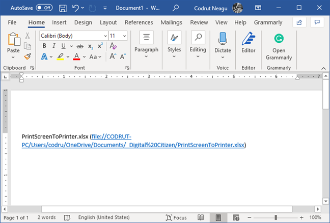 Copy and paste a shared file link