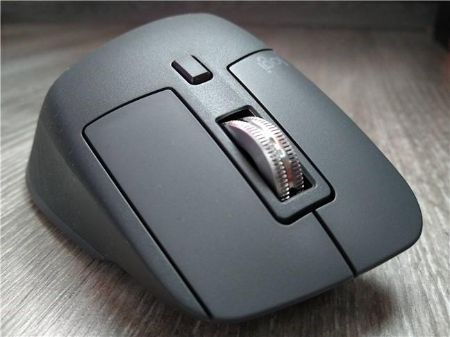The front side of the Logitech MX Master 3 mouse