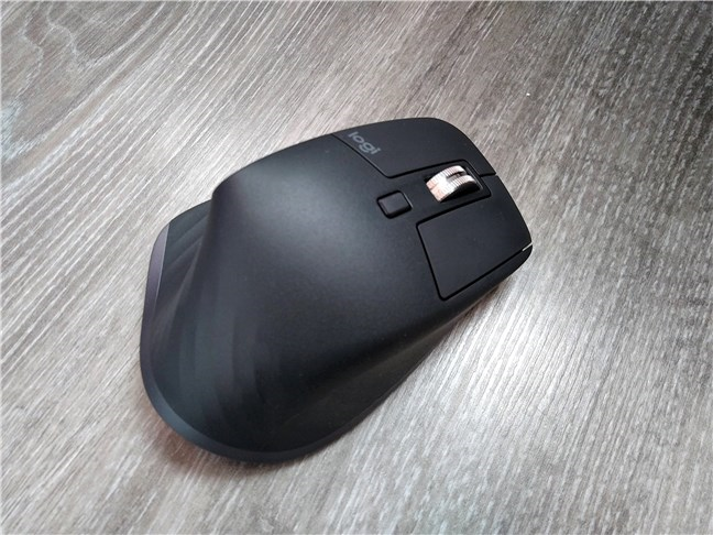 A view of the Logitech MX Master 3 mouse