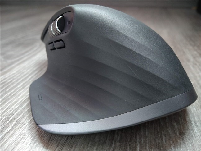 The back of the Logitech MX Master 3 mouse