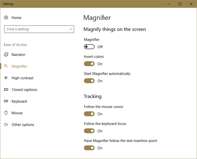 Magnifier, Windows